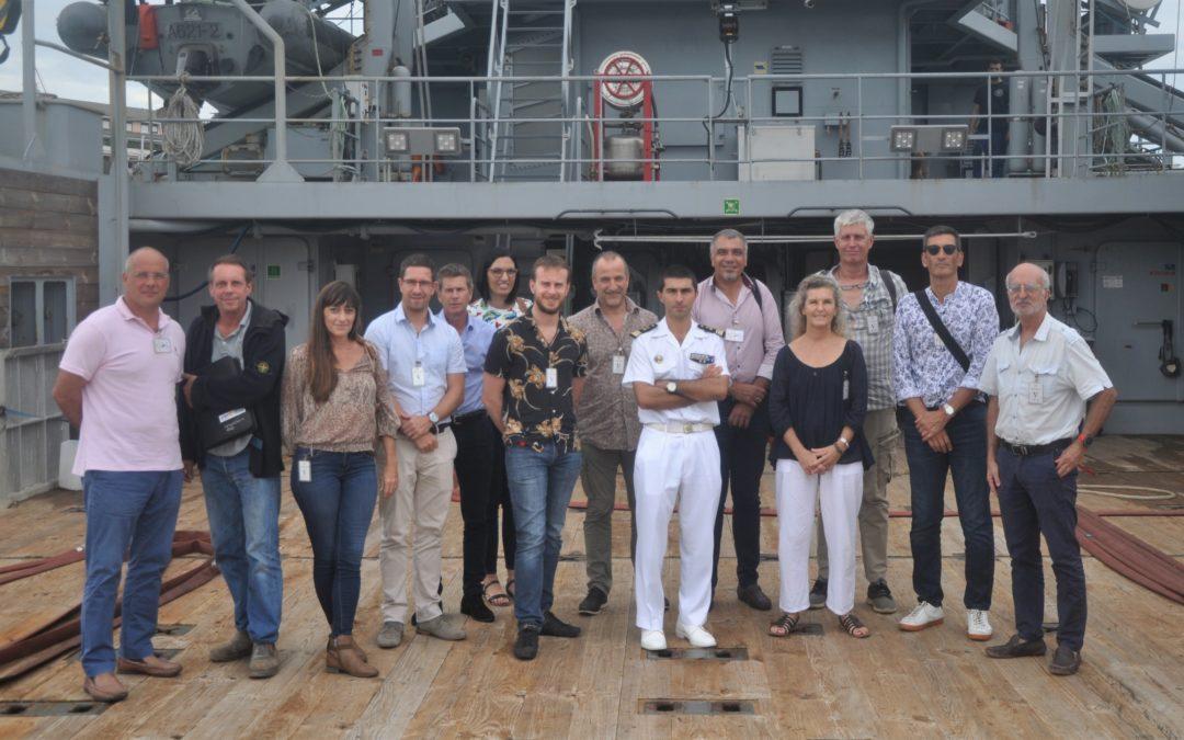 La Marine accueille le Cluster maritime