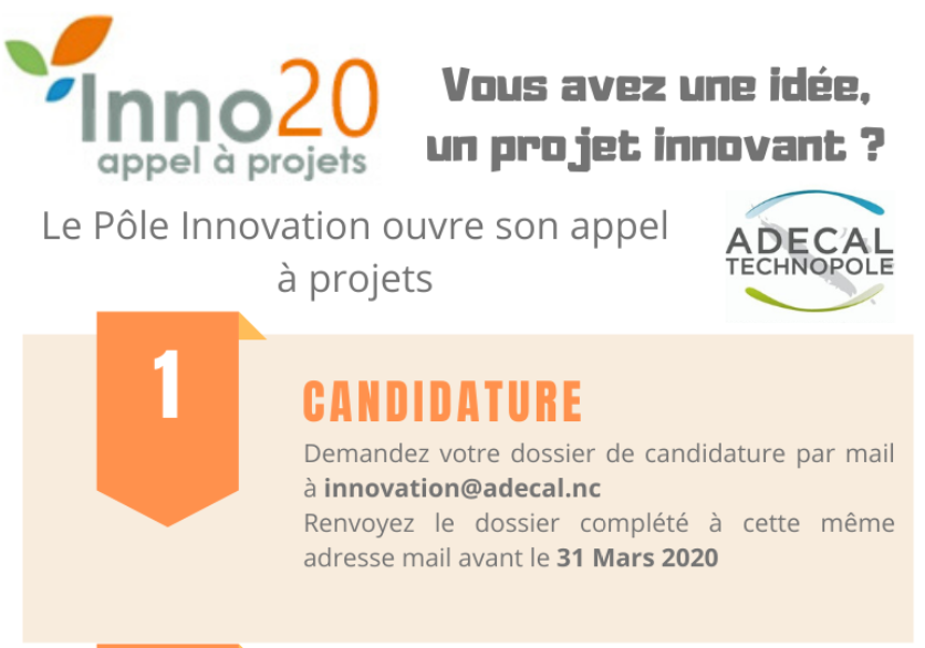 Appel à projets innovants de l'ADECAL 2020