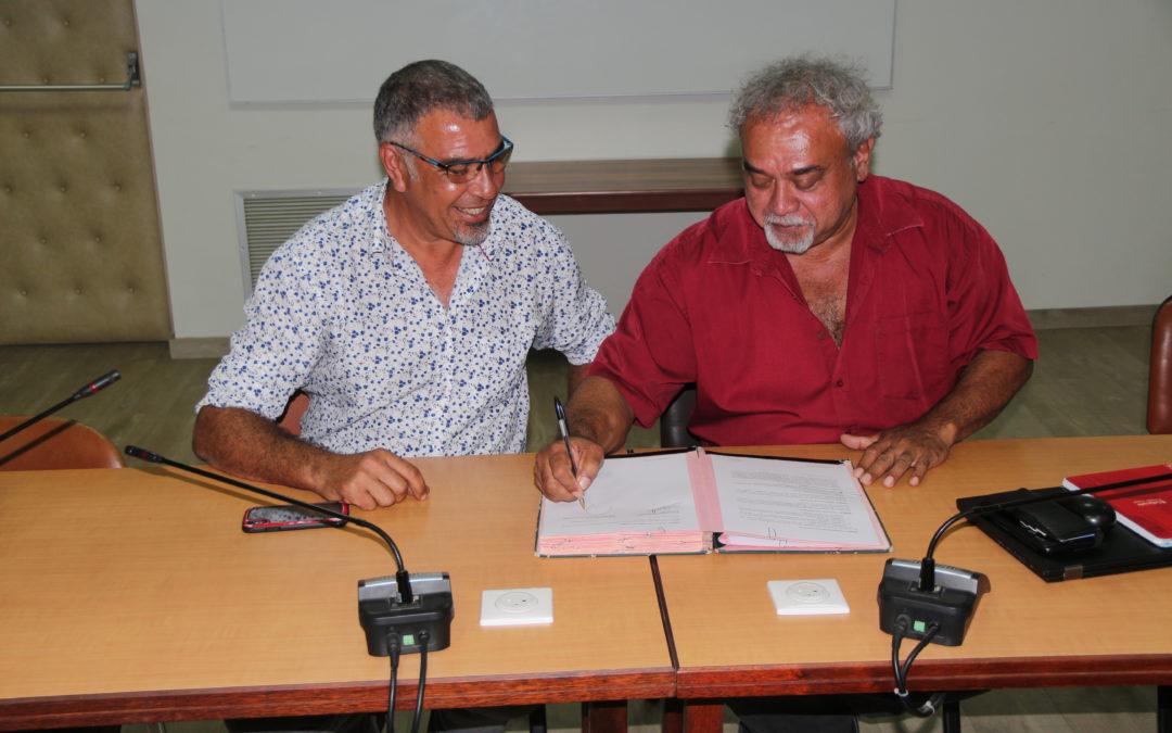 Le CMNC signe une convention avec la Province Nord