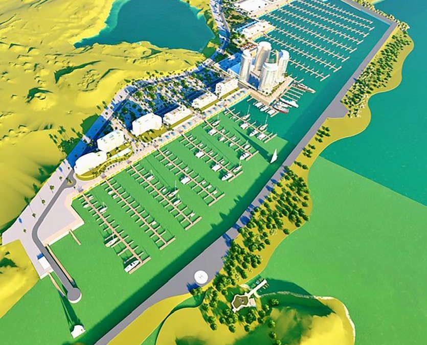 Marina de Nouré : la1ère phase en 2021