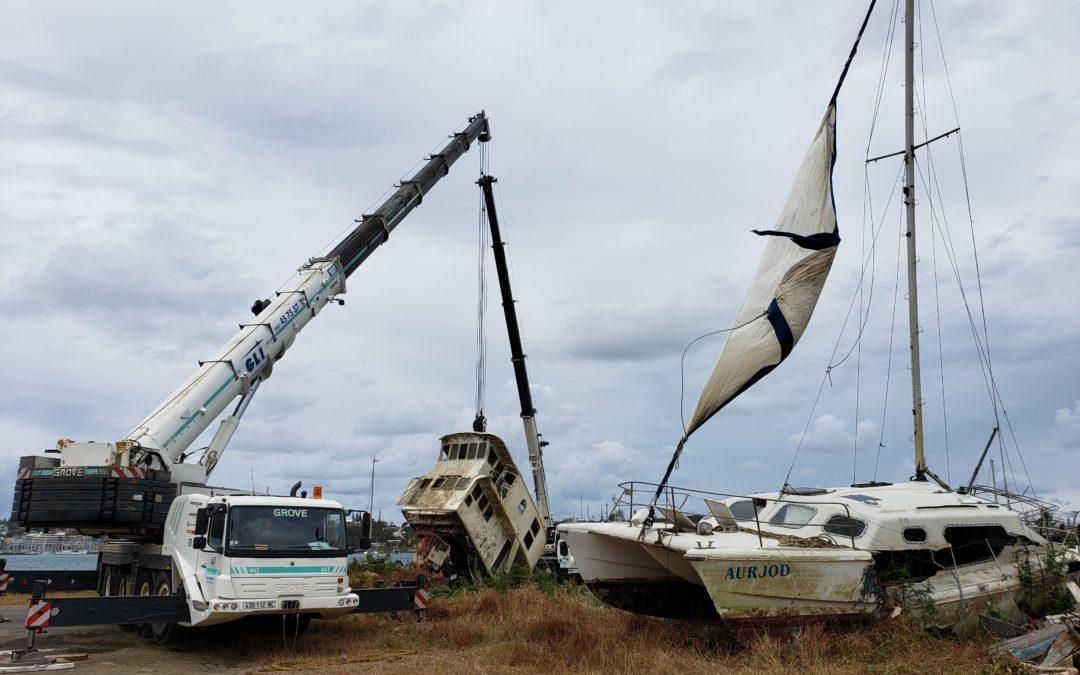 Royal Recy Boat sort plusieurs épaves au Port